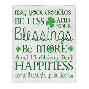 St. Patrick's Day Traditional Irish Blessing Fleece Blanket!!!