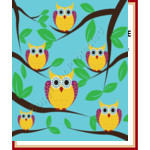 Owl Vin & the Whos - Standard Throw Blanket