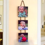 "25"" Wooden Hanging Photo Collage Trio - Square"