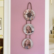 "25"" Wooden Hanging Photo Collage Trio - Circle (Instructions in Description)"