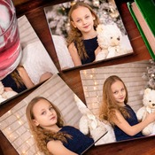 "4"" x 4""  Photo Print Ceramic Tile Coasters - Set of 4 (Instructions in the Description)"
