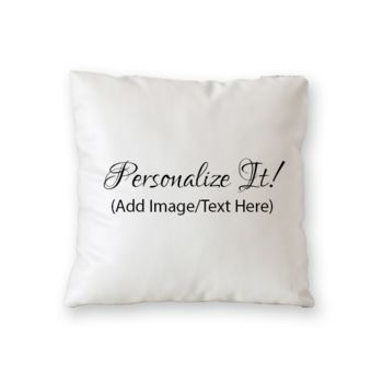 NEW!! Personalized Throw Pillows (Microfiber, Fleece, or Polypoplin) Thumbnail