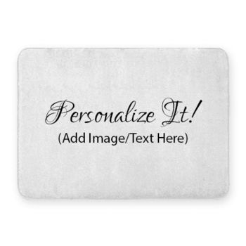 Personalized Coral Fleece Bath Mat Thumbnail