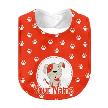 Monogrammed Aiden Baby Bib - Orange Thumbnail