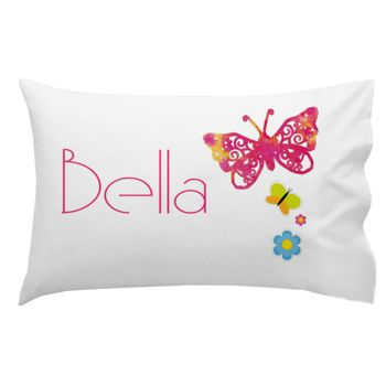 Monogrammed Butterfly Bella Pillowcase 30