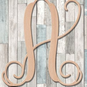 Vine Script Wood Monogram Single Letter - Wall Decor Thumbnail