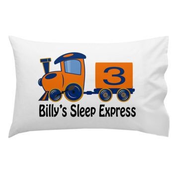 Monogrammed Train Pillowcase 30