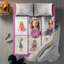 NEW!!! Personalized Photo Collage Top Sheet - Twin Thumbnail