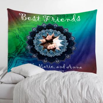 Photo Collage Wall Tapestries Blanket with Gramets Thumbnail