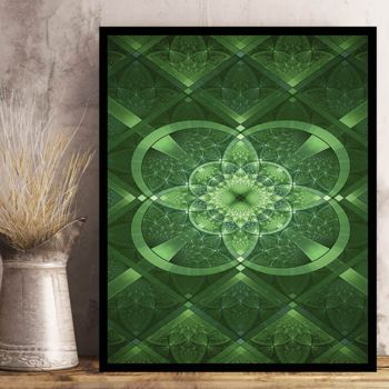 Copy of St. Patrick's Day Celtic Green Photo Print on Metal or Wood. Thumbnail