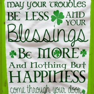 St. Patrick's Day Traditional Irish Blessing Fleece Blanket!!! Thumbnail