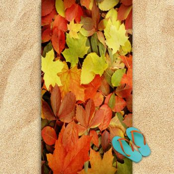 Fallen Leaves Oversized Beach Towel 30