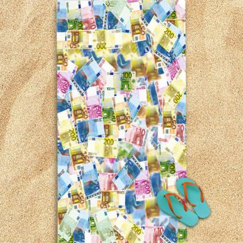 World Money Oversized Beach Towel 30