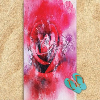 Rose Oversized Beach Towel 30