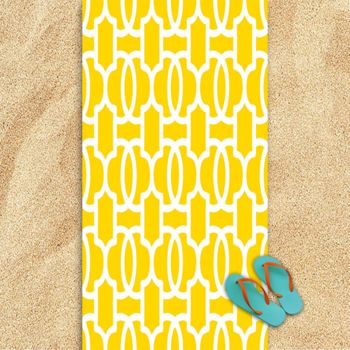 Yellow Bliss Oversized Beach Towel 30
