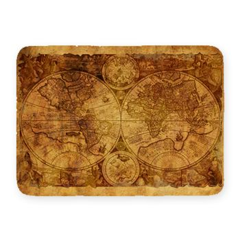 NEW!! Vintage World Map 2  Kitchen Mat. 27