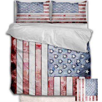 NEW!! American Flag Duvet Cover - Queen Thumbnail