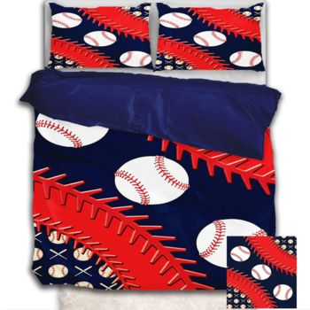 NEW!! Baseball Duvet Cover - Queen Thumbnail