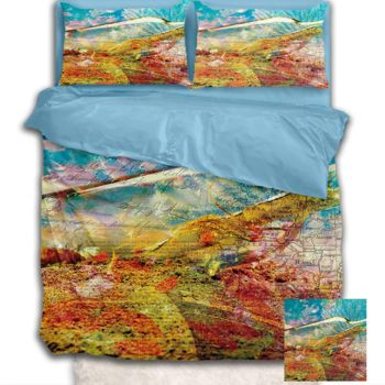 NEW!! Bottle Maps Duvet Cover - Queen Thumbnail