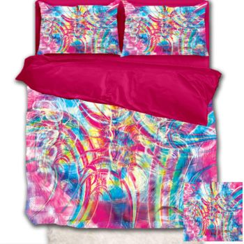 NEW!! Cotton Candy Tripp Duvet Cover - Queen Thumbnail