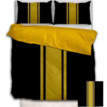 NEW!! Gold Stripe Duvet Cover - Queen Thumbnail