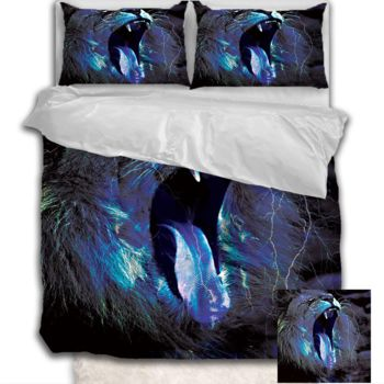 NEW!! Roaring Lion Duvet Cover - Queen Thumbnail