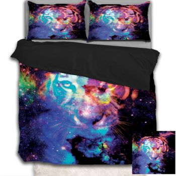 NEW!! Starry Tiger Duvet Cover - Queen Thumbnail
