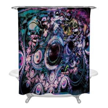 Funky Abstraction Shower Curtain Thumbnail