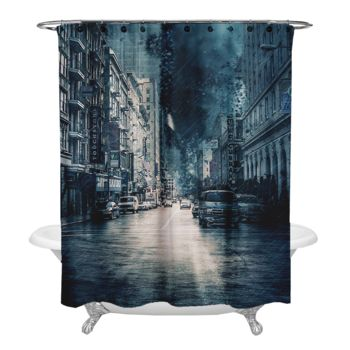 Stormy City Shower Curtain Thumbnail