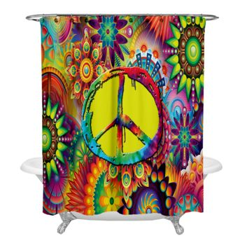 Groovy Peace Sign Shower Curtain Thumbnail