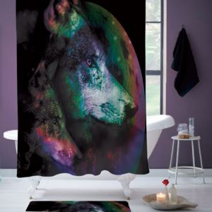 Wolf Night Shower Curtain Thumbnail