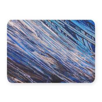 Blue Abstraction Coral Fleece Bath Mat Thumbnail