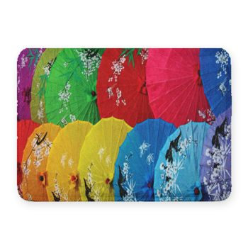 Chinese Umbrella Coral Fleece Bath Mat Thumbnail