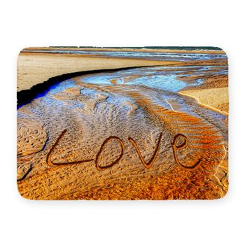 Love Coral Fleece Bath Mat Thumbnail