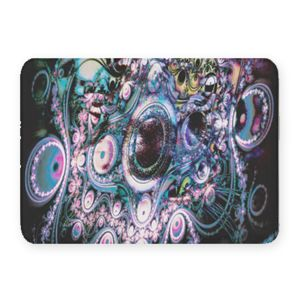 Funky Abstract Coral Fleece Bath Mat Thumbnail