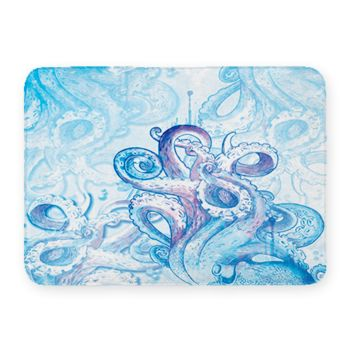 Octopus Coral Fleece Bath Mat Thumbnail