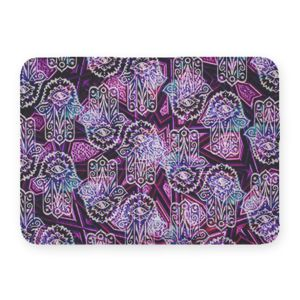 Hamsa Hands Coral Fleece Bath Mat Thumbnail