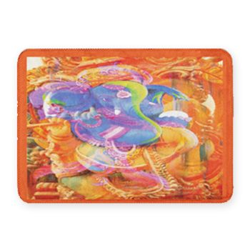 Hindu Elephant Coral Fleece Bath Mat Thumbnail