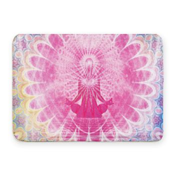 Meditation Coral Fleece Bath Mat Thumbnail