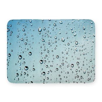 Rain Drops Coral Fleece Bath Mat Thumbnail