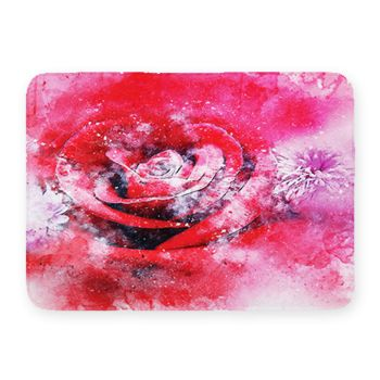 Rose Coral Fleece Bath Mat Thumbnail