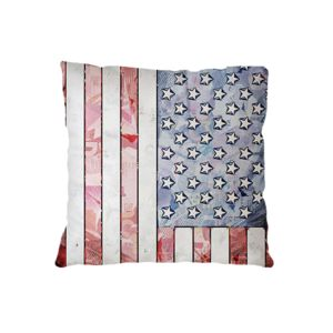NEW!!!  American Flag Microfiber Throw Pillow - 16