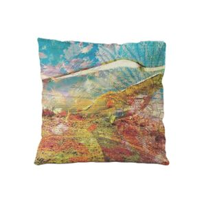 NEW!!!  Bottle Map Microfiber Throw Pillow - 16