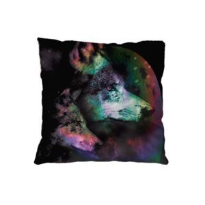 NEW!!!  Wolf Night Microfiber Throw Pillow - 16
