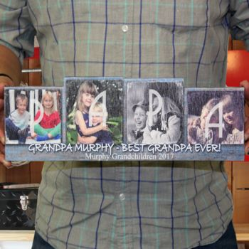 Personalized Painted Wooden Photo Block Thumbnail
