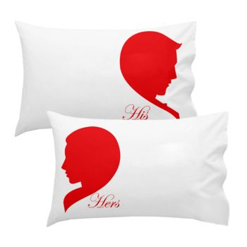 Personalized HIS & HER Heart Pillowcase Set Thumbnail