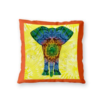 NEW!!! Mandala Elephant Throw Pillow - Microfiber, Fleece, or Polypoplin Thumbnail
