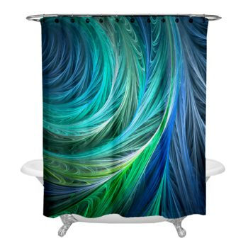 Cyanotic Silk Shower Curtain Thumbnail