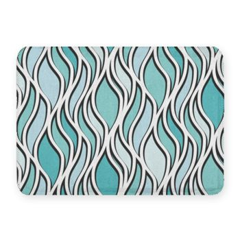 Slivers Abstraction Coral Fleece Bath Mat Thumbnail