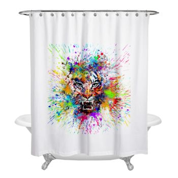 NEW!!! Art of Tiger Shower Curtain Thumbnail